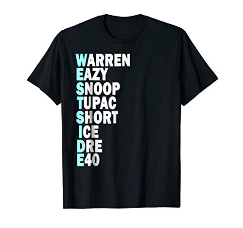 West Side Hip Hop Rap Music Artists 90s Legends Shirt