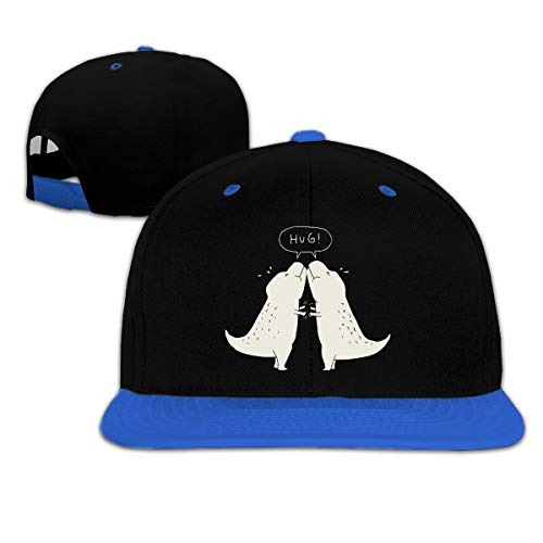 Toddler Girls Baseball Cap Dino Hug Cotton Snapback Sun Hat Blue