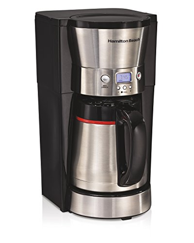 - Hamilton Beach 46896A 10 Cup Coffee Maker with Vacuum Stainless Thermal Carafe, Black