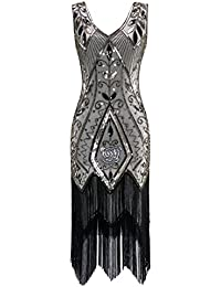 Women's 1920s Vintage Flapper Fringe Beaded Great Gatsby...