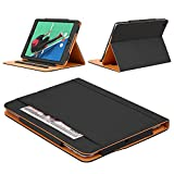 DUNNO iPad 2 3 4 Case - Leather Wallet Smart Case [Synthetic Leather] Stand Folio Cover with Auto Sleep Wake (Black)