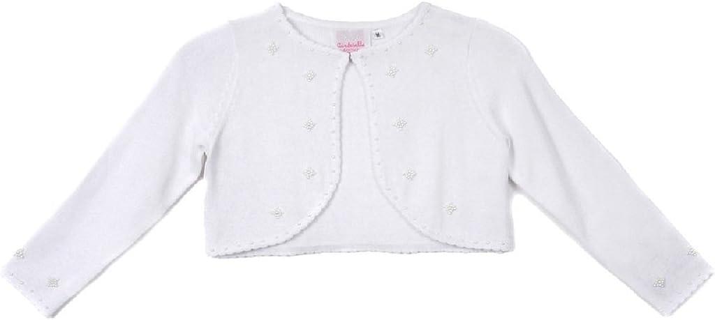 Classy 3010 White//Ivory//Black Pearl Beaded Sweater for Girl