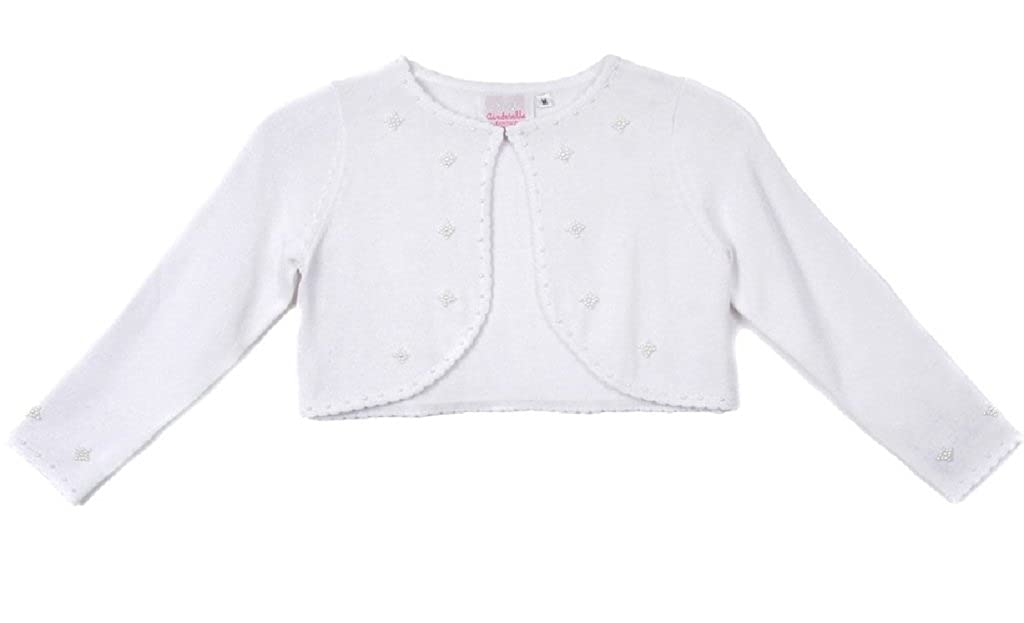 Classy 3010 White/Ivory/Black Pearl Beaded Sweater for Girl