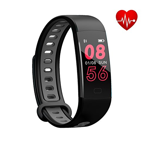 Bloranda Fitness Tracker HR,Activity Tracker Watch Waterproof Smart Bracelet with Colorful Screen Heart Rate Monitor Calorie Counter Watch Pedometer Sleep Monitor for Kids Women Men – DiZiSports Store