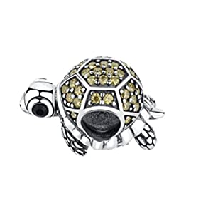 Glamulet Lovely Sea Turtle Charms Swarovski 925 Sterling Silver Animal Bead Fit DIY Bracelet from Glamulet
