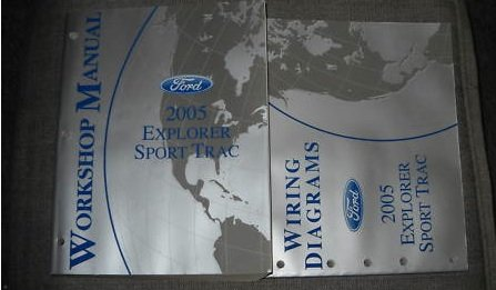- 2005 Ford Explorer Sport Trac Service Shop Manual Set