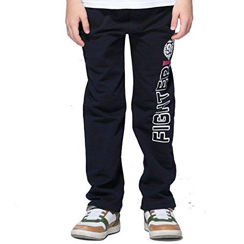 usky Elastic Waist Sport Sweatpants Joggers (Navy, 14) ()