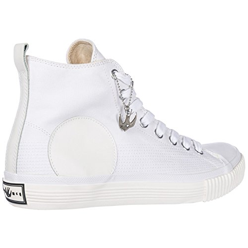 MCQ High Schuhe Sneakers Plimsoll Herren Herrenschuhe Weiß McQueen Alexander rp7q6r