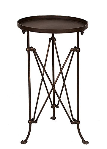 Creative Co-op Round Bronze Metal Accent Table, 25