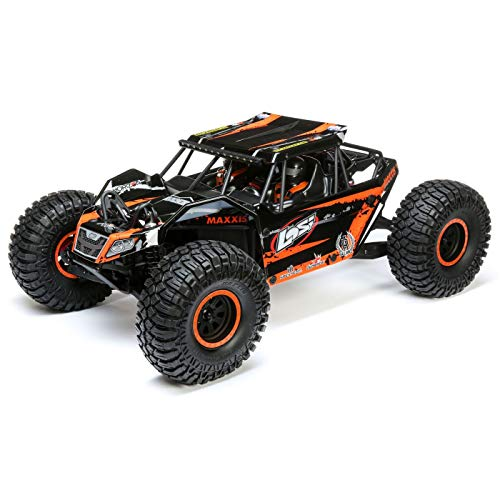 Losi Rock Rey 1/10 4WD RC Desert Truck Brushless BND with 4-Ch Dsmr Avc Receiver (Transmitter, Battery & Charger Not Included), LOS03026
