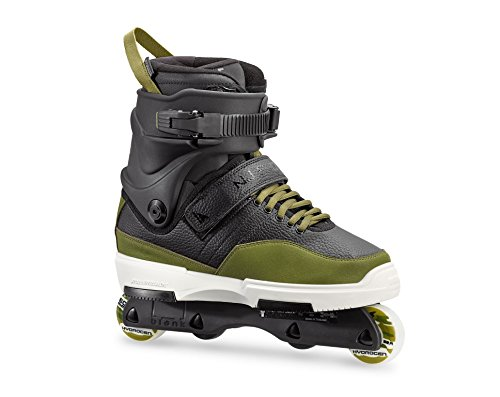 Rollerblade NJ Pro Unisex Adult Street Inline Skate, Black and Army Green, Premium Inline (Rocker Lock Pick)