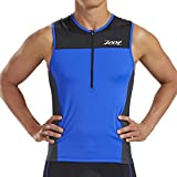 Zoot Men's Core Tri Tank - Performance Triathlon Top with Mesh Panels and 3 Pockets