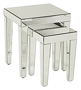 Amazon Com Ave Six Reflections 2 Piece Nesting Table Set