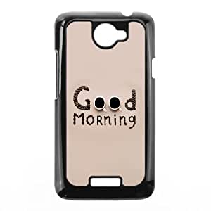 Good Morning Typography HTC One X Cell Phone Case Black DAVID-204250