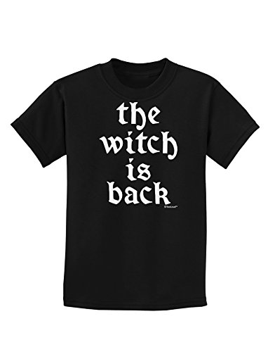TooLoud The Witch is Back Childrens Dark T-Shirt - Black - Large -