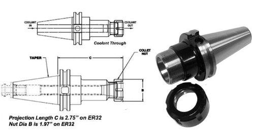 5PC CAT40 ER32 PRECISION COLLET CHUCK FOR HAAS OR MAZAK CNC CAT41