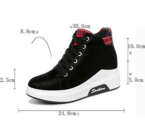 Deporte Mujer Zapatos B Otoño Deporte Coreana Zapatillas De Versión Casual Aumentadas Salvaje wtqC5fx56