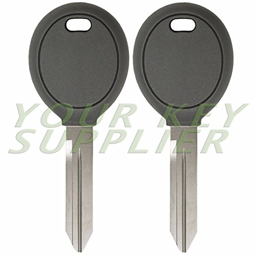 Pair Transponder Chip Ignition Car Key Replacement Blank for Chrysler Dodge - Merced Mall In Stores