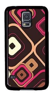 Samsung Galaxy S5 Case,Samsung Galaxy S5 Cases - Retro Squares Custom Polycarbonate Hard Back Case For Samsung Galaxy S5 - Black