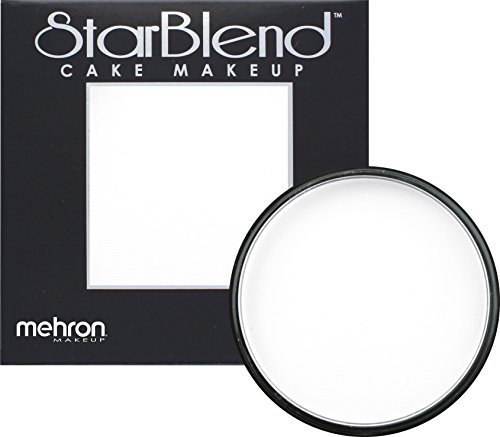 [Mehron Makeup StarBlend Cake Makeup WHITE – 2oz] (Clown Around Makeup Kit)