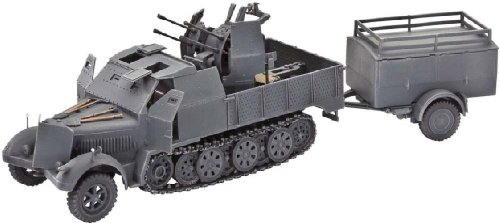 [Revell Germany Sd.Kfz.7/1 Tracked Infantry Vehicle Model Kit] (Tracked Tractor)
