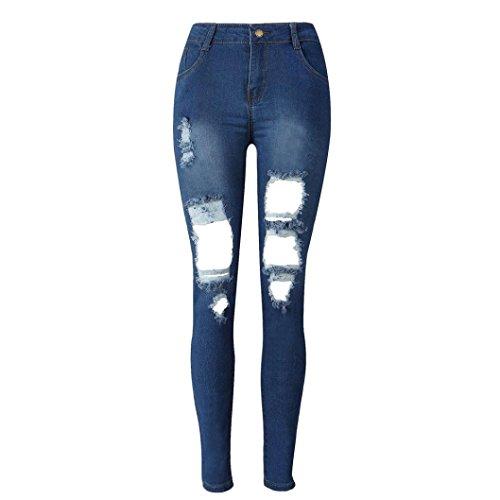 Rotos Tejanos Pantalones Mujer LHWY, Vaqueros Push Up Skinny Pantalones LáPiz EláStico Jeans De Cintura Alta