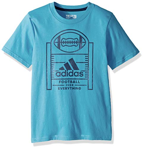 (adidas Boys' Big Short Sleeve Graphic Tee Shirt, Game T Aqua S)