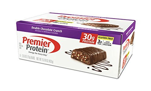 Premier Protein Nutrition Bar, Double Chocolate Crunch, 30g Protein, 2.53 Ounce Bars by Premier Protein