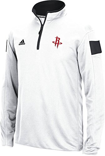 NBA Houston Rockets Men's Full Color Logo 1/4 Zip Knit Pullover, White, Large