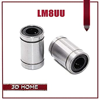 10pcs Steel LM8UU Linear Bearing 8x15x24mm Ball Bearings Bushing For 3D Printer