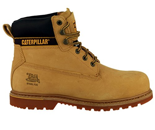 Caterpillar, Holton S3, scarpe antinfortunistiche Marrone (Miele)