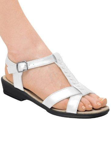 T-stropp Sandal Hvit