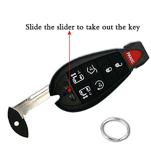 2 Pack Keyless2Go Replacement Keyless Remote Fobik Key Fob for Vehicles That Use M3N5WY783X