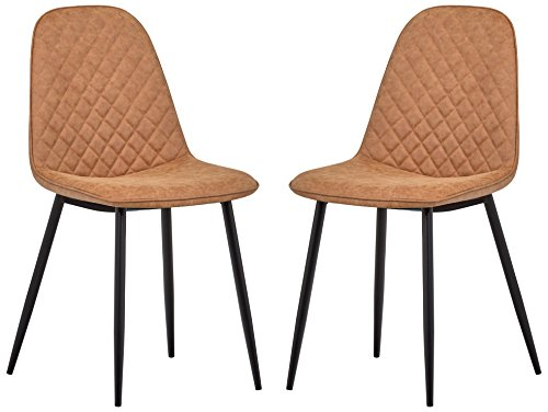 Rivet Ray Mid-Century 2-Pack Stitch Back Accent Chairs, 34.3