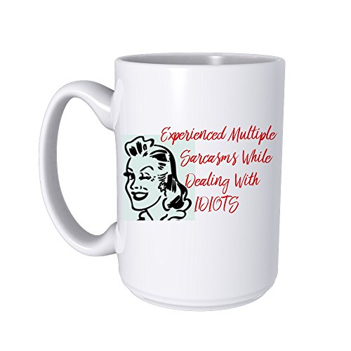 Experienced Multiple Sarcasms While Dealing With Idiots Mug, Funny Mug, Quote Mug, sarcastic