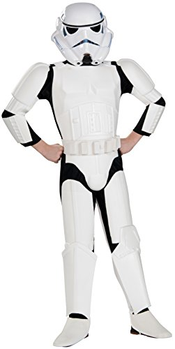 [Star Wars Child's Deluxe Stormtrooper Costume, Medium] (Storm Costume Cosplay)