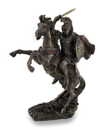 Alexander the Great Riding Bucephalus Bronzed Sculptural Statue by Veronese