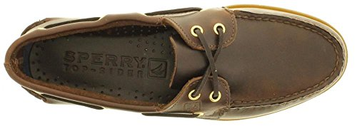 Mens Sperry Topsider, Äkta Original Båt Sko Amaretto 6,5 W