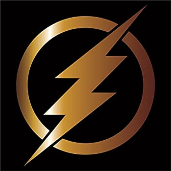 Amazon.com: The Flash Vinyl Decal / Sticker - Gold 4