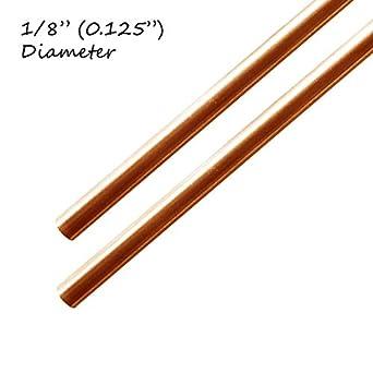 Barra de cobre de 0,125 pulgadas de diámetro - 6 cm de largo ...