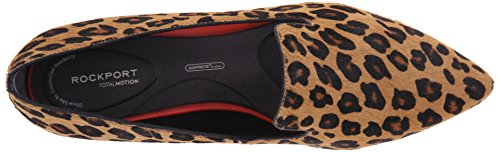 Rockport Mujer Total Motion fumar Zapato Plano de ballet Brown Leopard Hair On