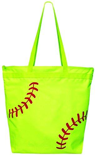 Softball Laces Tote Bag