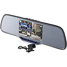 "Z-EDGE Z2Pro Dual Dash Cam, 2K Ultra HD 2160P Front & 1080P Rear 5.0"" Ultra Clear IPS Rearview Mirror, Front and Rear Dash Cam, Backup Camera with 150 Degree Viewing Angle, WDR, 16GB card included"