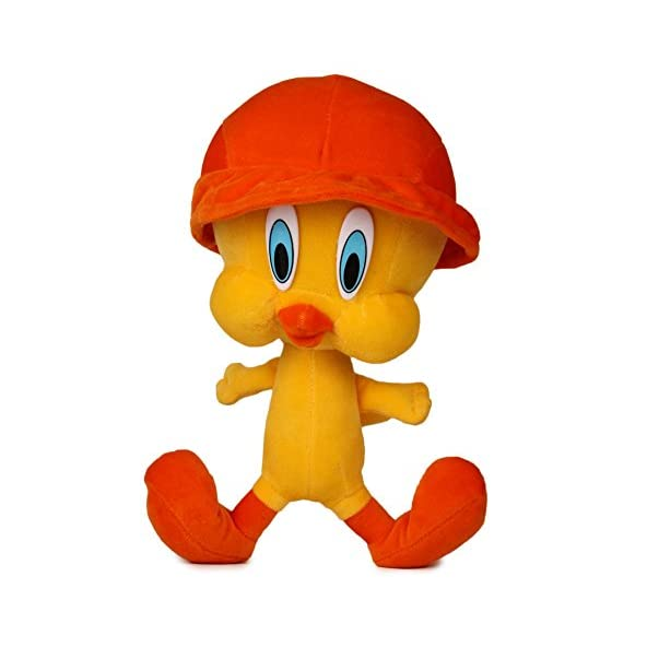 Funny Teddy Cap Tweety Soft Toy – 30cm (Yellow/Orange)