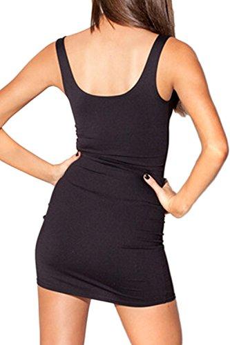 Damen Basic dehnbar kleine schwarze figurbetonten Kleid