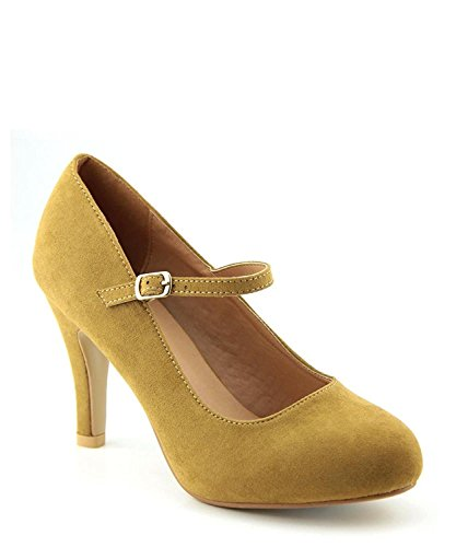 - Bella Marie Womens Helena-13 Suede Pumps Dark Taupe 9 B(M) US