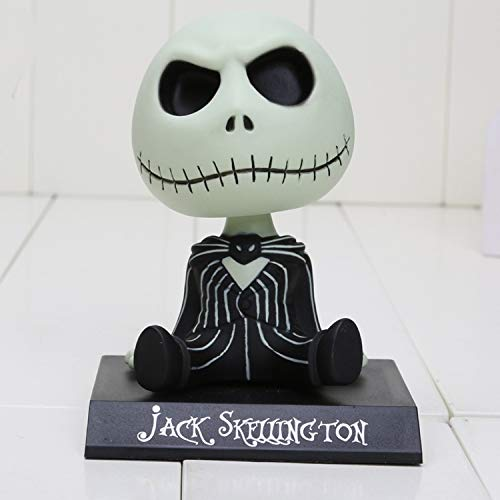 (CHITOP The Nightmare Before Christmas - Jack Wacky Wobbler Bobble Head PVC Action Figure Model Toy 10CM (Black OPP Bag))