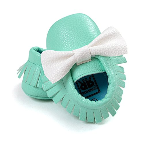 etrack-online Infant Toddler Moccasins Prewalker zapatos de cribe PW Talla:0-6 meses GW