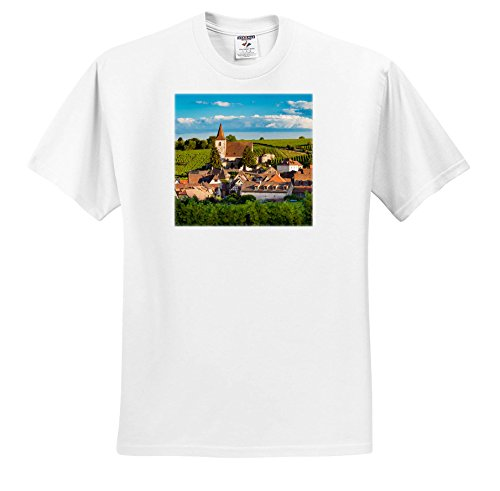 Alsace White Wine (3dRose Danita Delimont - Vineyards - Town Of Hunawihr Along The Wine Route, Alsace Haut Rhin, France - T-Shirts - White Infant Lap-Shoulder Tee (12M) (TS_277369_67))