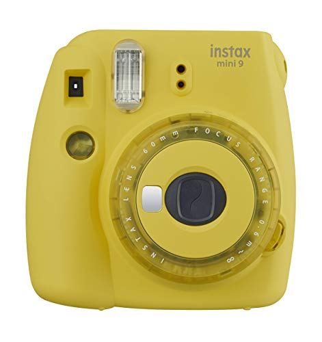 Fujifilm Mini 9 Instant Camera with Clear Accents (Yellow) (Yellow Polaroid Camera With Film)